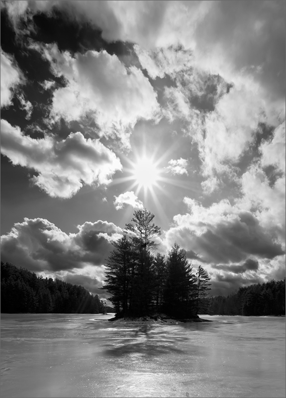 Island, ice, quabbin reservoir, Massachusetts, winter