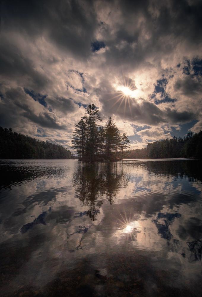 Quabbin Reservoir, Massachusetts, Patrick Zephyr, reflections, island, New England, Photography, photo