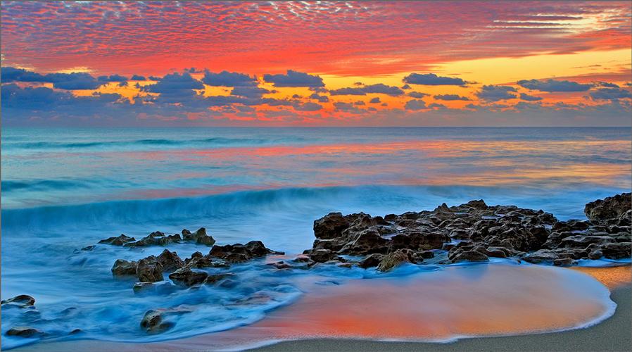 Florida, sunrise, coral cove, ocean