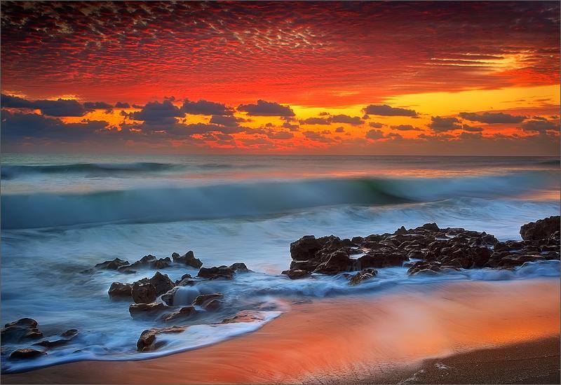 Florida, sunrise,  coral cove, Anastasia limestone, , photo