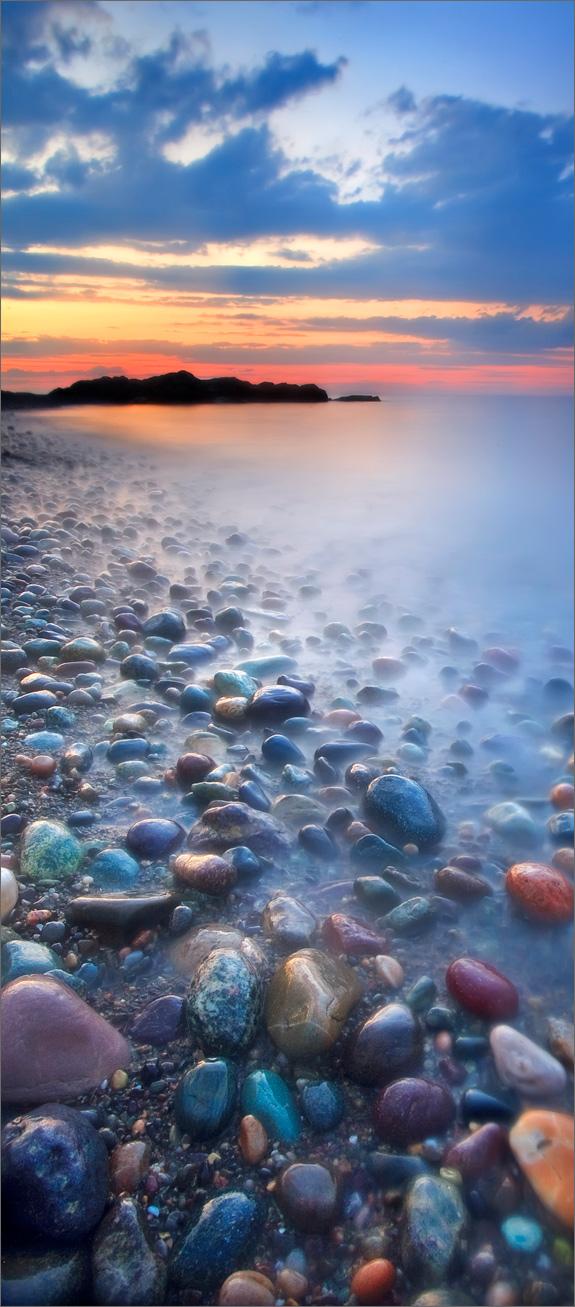 Cohasset, rocks, sunset, Massachusetts,