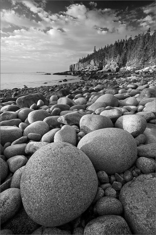 Otter cliffs, Acadia national park, Maine, cobble stones, , photo