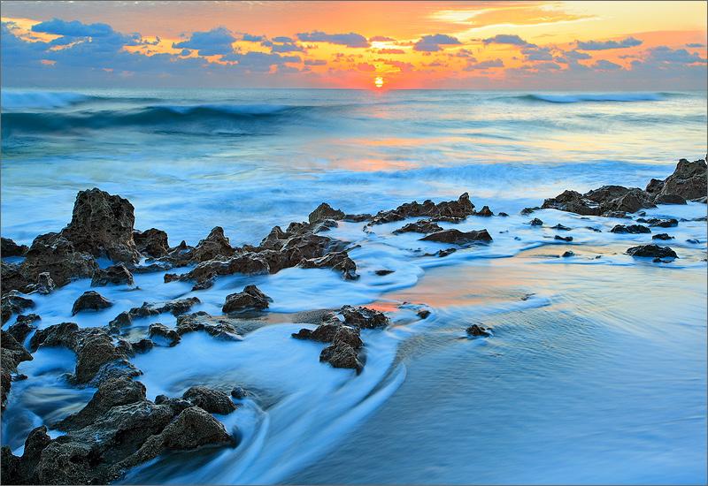 Florida, coral cove, sunrise, surf, ocean, , photo