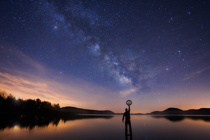 peace, night, Milky Way, Massachusetts, quabbin reservoir, stars, , photo