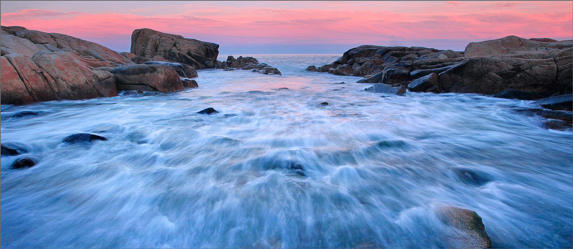 Biddeford pool, Maine, sunset, pink, photo
