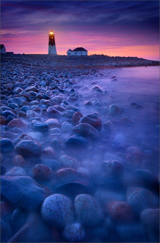 lighthouse, point judith, Rhode Island, ocean, waves, rocks, surf, dawn, , photo