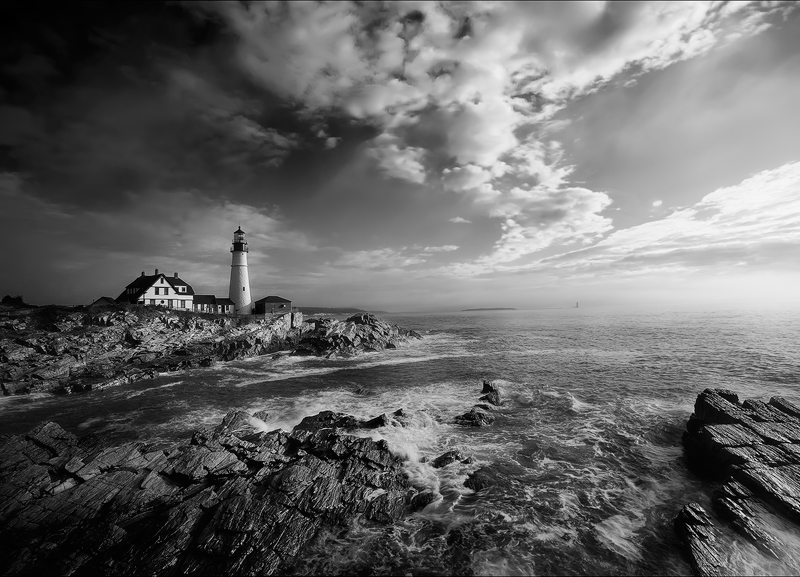 Portland head light, cape Elizabeth, Maine, lighthouse, photo