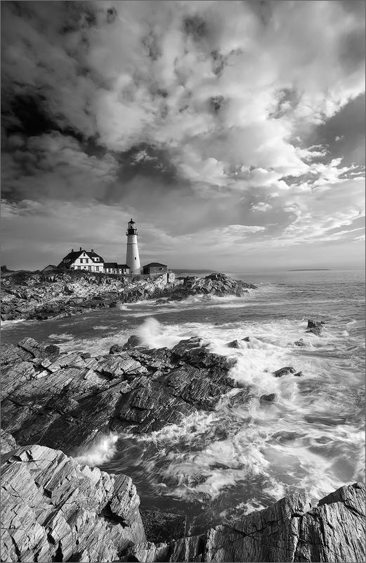 Portland head light, cape Elizabeth, Maine, lighthouse, photo