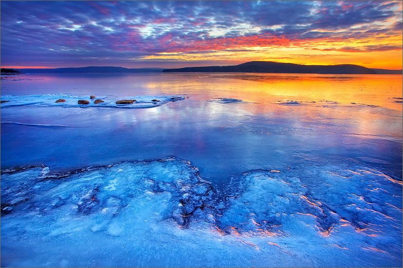 quabbin reservoir, massachusetts, sunrise, photo