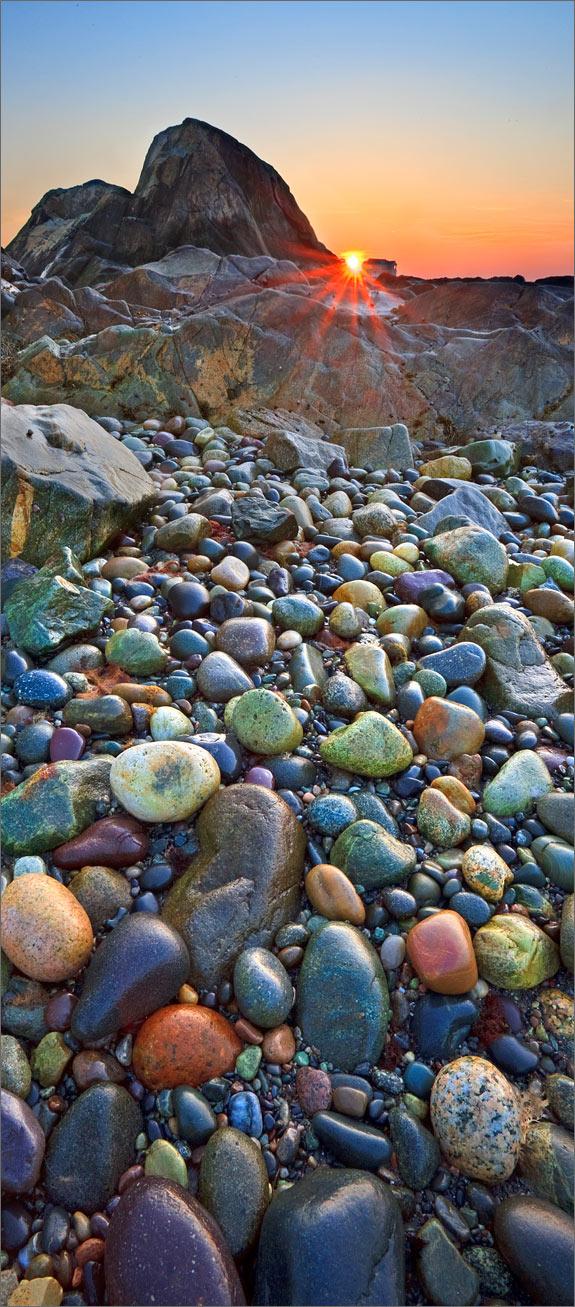 Cohasset, rocks, sunset, Massachusetts,, photo