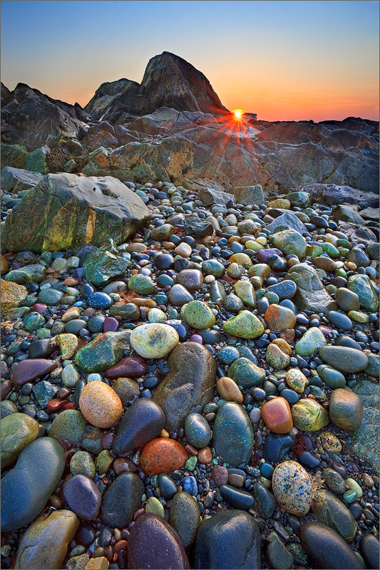 Cohasset, Massachusetts, rocks, sunset, candy, photo