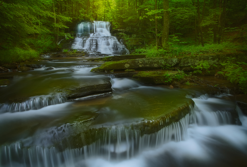 The location of this beautiful waterfall is not my secret. It is on private poperty and upon the request of the property owner...
