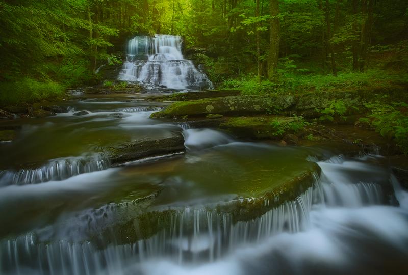 waterfall, massachusetts, cascade, photo