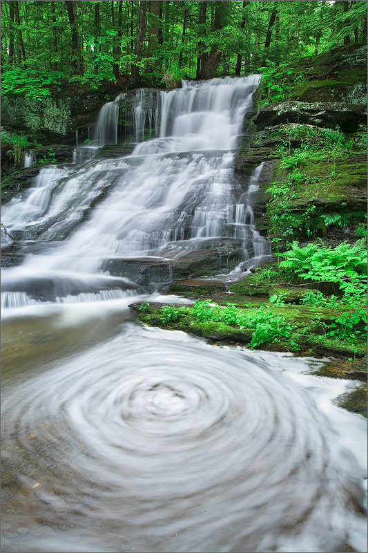 Waterfall, montage, Massachusetts,, photo