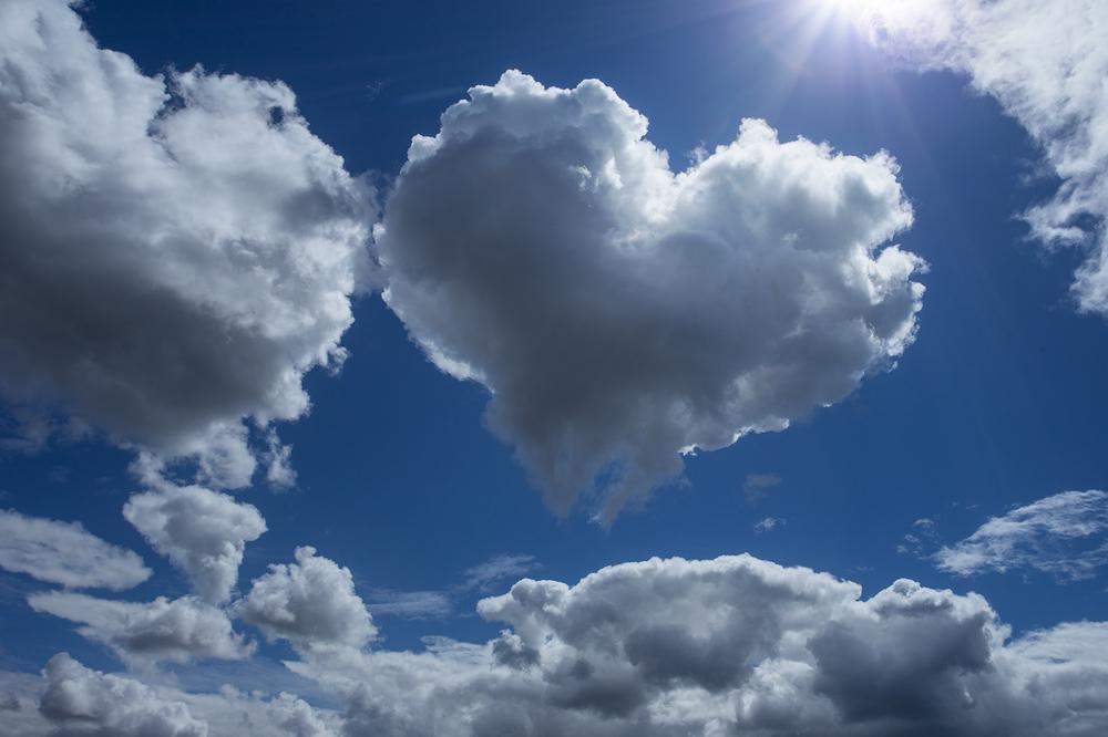 cloud, heart, love, Patrick Zephyr, sky, photo