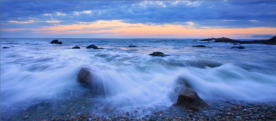 Sockonett point, Rhode Island, wave, sunrise, photo