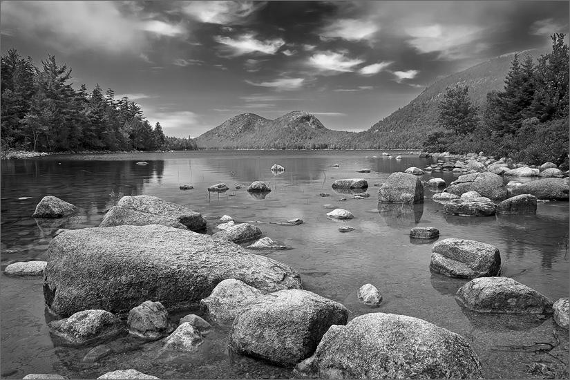 Acadia national park, Maine, the bubbles, Jordan pond, , photo