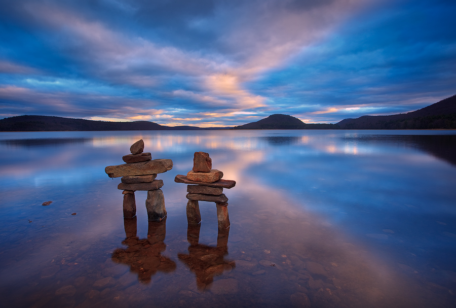 One of my favorite places in the Quabbin to watch the sunset or sunrise. I stacked these inukshuks a few days earlier and kept...