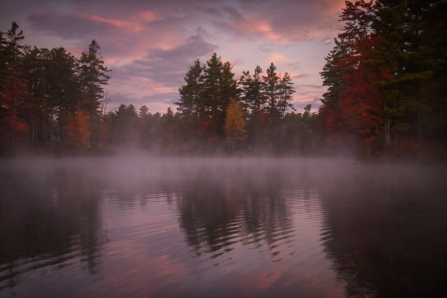 I spent some time paddling through a carpet of fog this fall. It was cool to be able to float around and change my compositions...