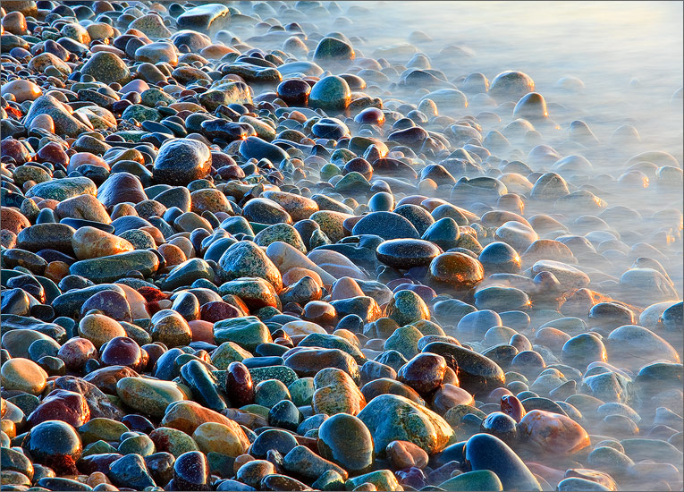 Rocks, sunrise, surf, cohasset, massachusetts, photo