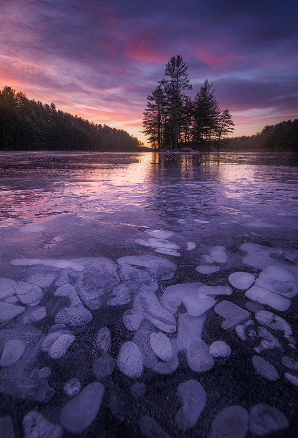 Another capture from my 2 weeks with the ice at this location earlier this month. It was recently covered by snow but after a...