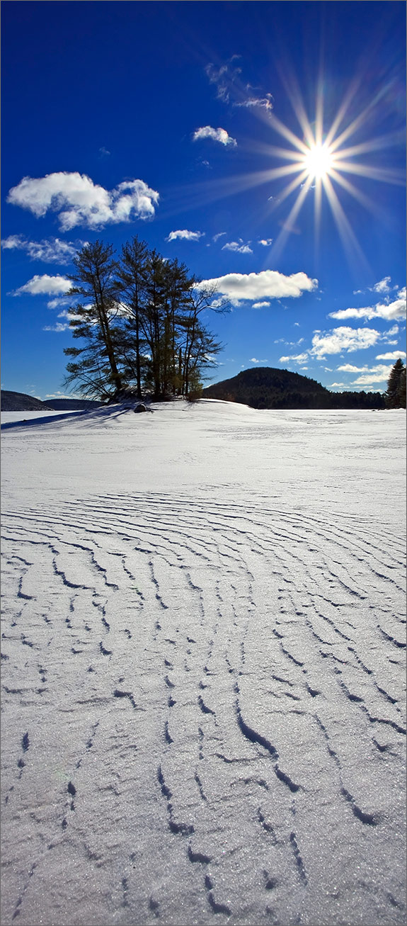 Winter, island, snow, sun, quabbin reservoir, Massachusetts, , photo