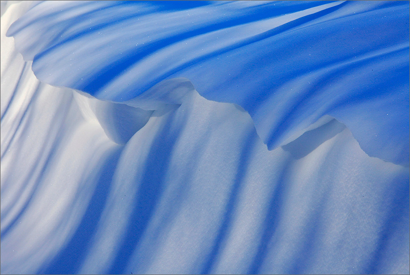 Winter, snow, shadows, wave, photo
